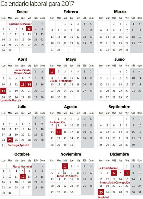Calendario De Colombia Año 2018 Calendario Laboral 2017 Festivos Y Puentes Elcorreo