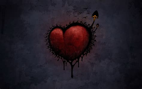 wallpaper dark heart dark love walldevil