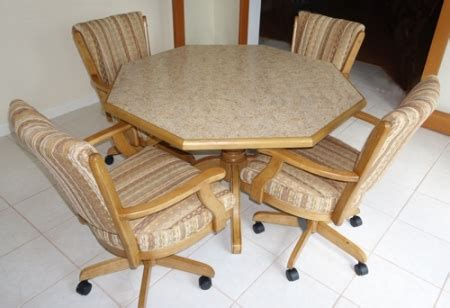 Kitchen Table With Rolling Chairs by Dinettes Dining Room Furniture Tables Matching Chair