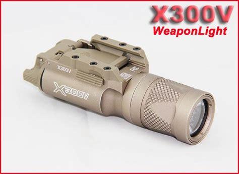 Poluper Flashlight Sf X300v Mahabrata new sf led x300v mini picatinny weaponlight tactical flashlight earth white and flash