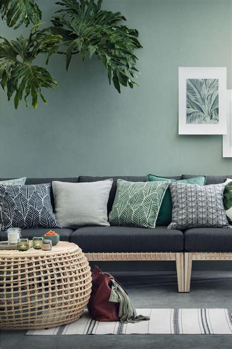 leaf print cushion cover hm home living room living