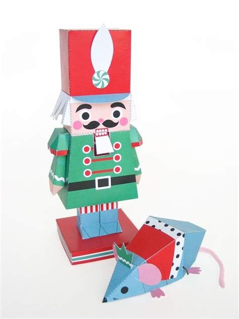 toy soldier craft for kids nutcracker and mouse king toys printable paper craft pdf with paper