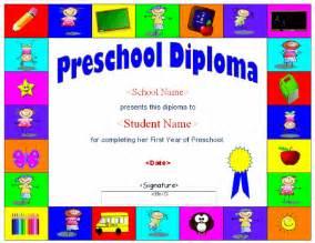 Preschool Graduation Diploma Template by Preschool Diploma Template