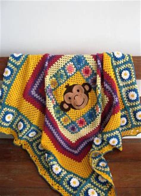 square afghans for infants and children donna s square patterns books sock monkey square blanket and gray crochet