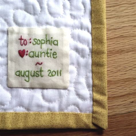 Handmade Labels For Quilts - quilt label another pinner says whenever i