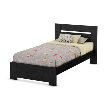 black twin bed frame southshore flexible collection twin bed kit headboard