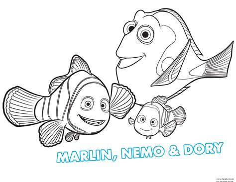 print out free printable finding dory coloring page for kidsfree