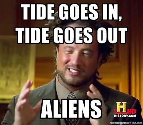 It Was Aliens Meme - ancient aliens invisible something meme generator image