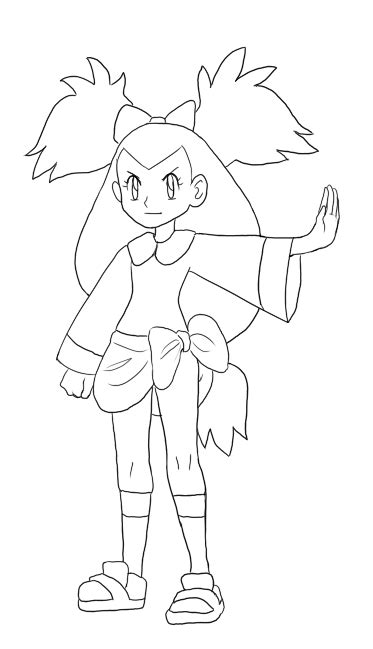 pokemon iris coloring pages of iris and making it look like another character for