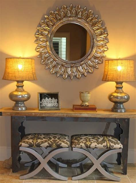 Entry Console Table With Mirror Create Impact With Console Tables In The Entry