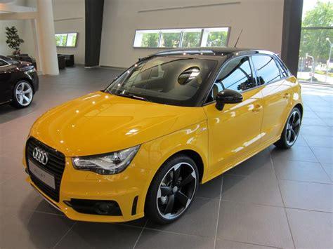 Audi A1 Gelb audi a1 sportback s line 1 4 tfsi 185ps farbstudie schwarz