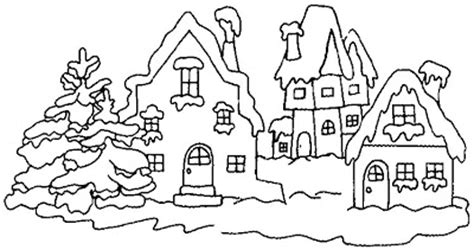 snow village coloring page snow coloring pages 2011