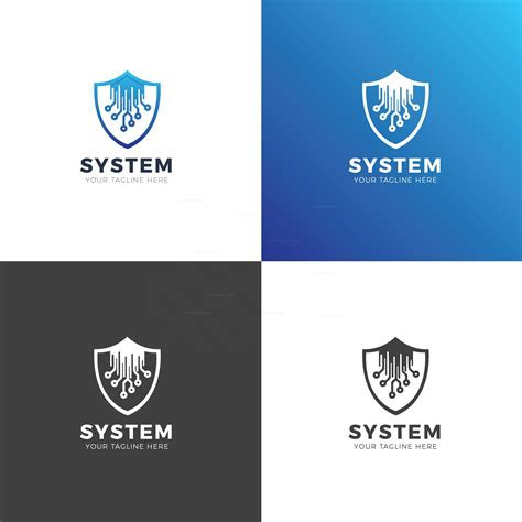 Shield Modern Logo Design Template 001911 Template Catalog Modern Logo Template