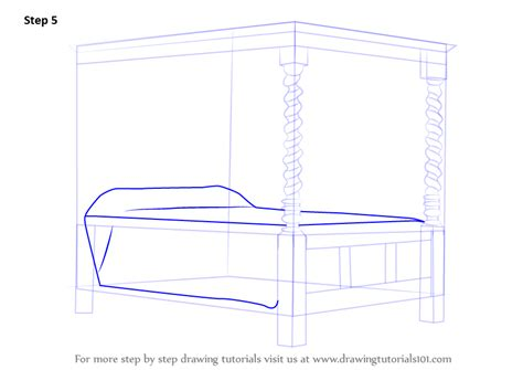 learn   draw   poster bed furniture step  step drawing tutorials