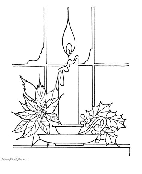 print coloring page candle coloring pages