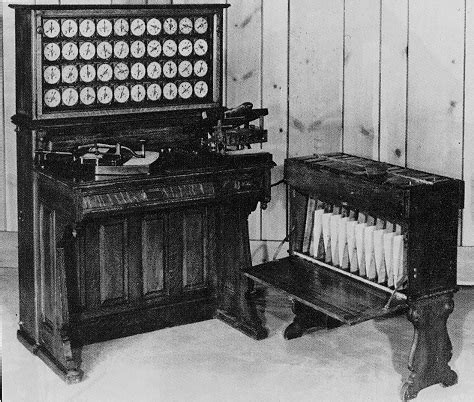 Hollerith Desk by Tabulating Machine