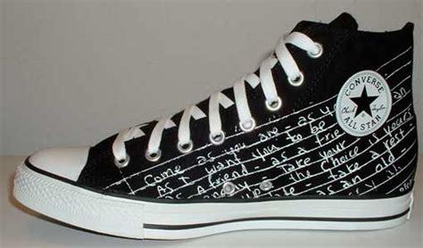 Kurt Cobains Converse Shoe Line by Chuck Talk Archive 1