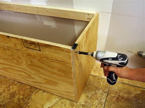 build  upholstered bench  tos diy