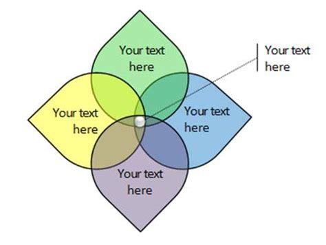 powerpoint venn diagram intersection color 5 variations of venn diagram in powerpoint