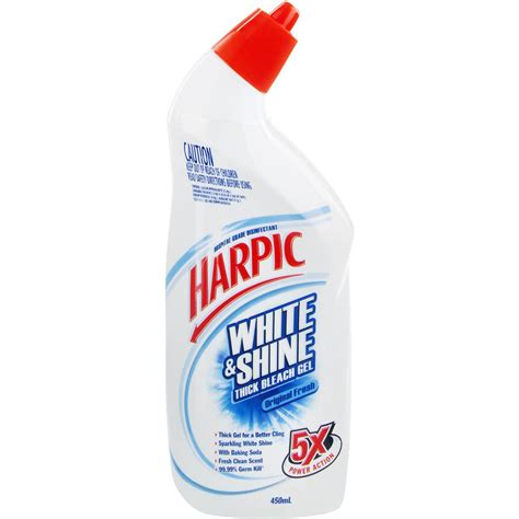 harpic white shine toilet cleaner bleach gel fresh 450ml