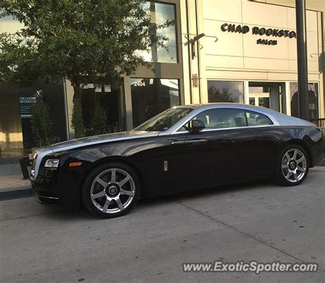 rolls royce wraith spotted in dallas on 11 04 2015
