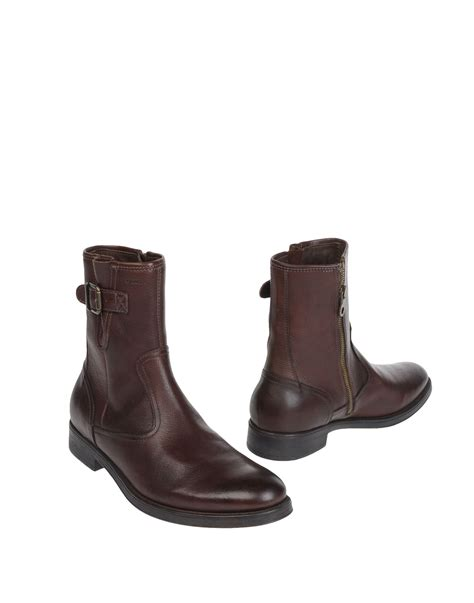 geox boots for geox ankle boots in brown for lyst