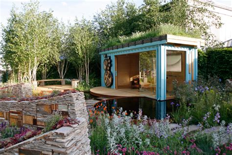 Shed Roof Design New Wild Garden Chelsea Rhs Material Buildings Amp Interiors