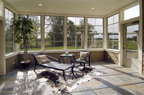 Window Treatments For Enclosed Porch by 3 5 Season Porch Traditional Sunroom Minneapolis