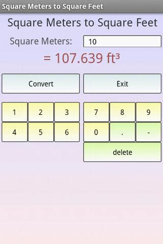 meter square to feet square meters to square feet android apps on google play