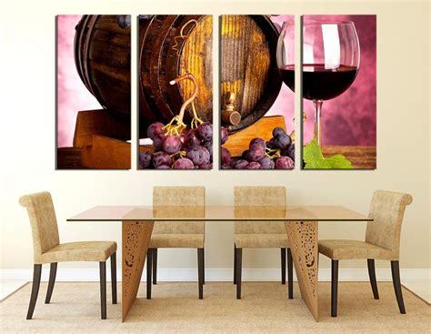 piece canvas art prints dining room wall design