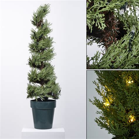 home and gardens prelit trees pre lit premium artificial topiary tree home garden patio 3 designs 3 6ft ebay