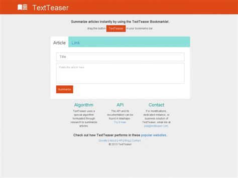 Resume D Un Article by Textteaser R 233 Sum 233 Automatique D Un Article Veille Perso