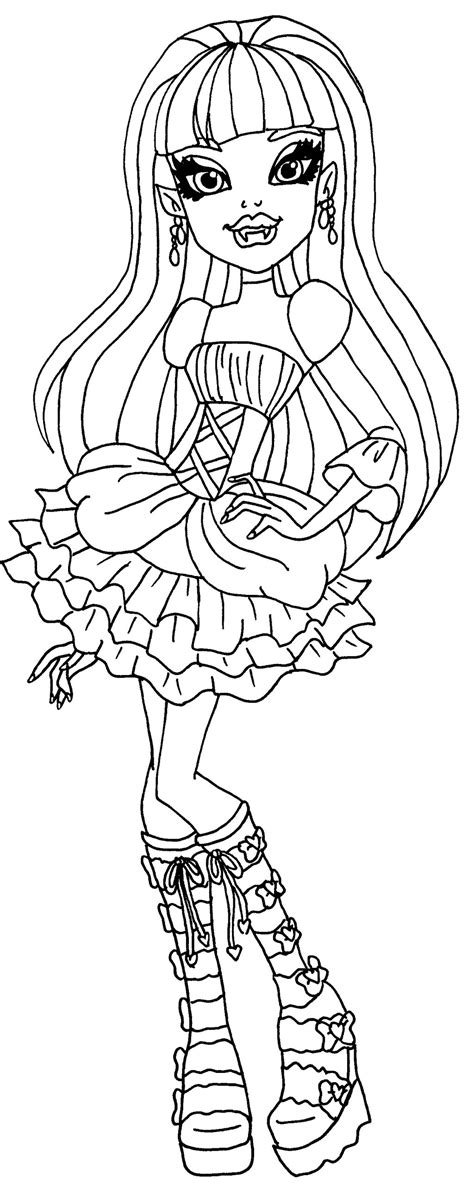 monster high zombie shake coloring pages elissabat mu 241 ecas monster high