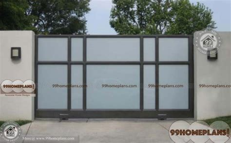 simple gate designs ideas with sliding type gates