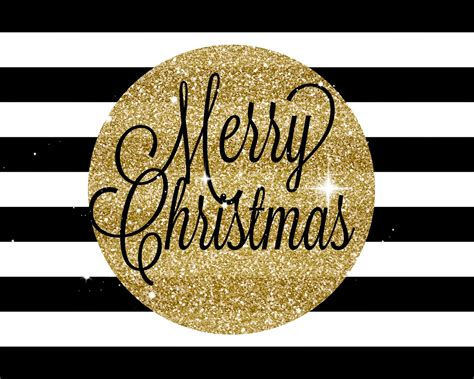 mimi lee printables more merry christmas black and gold