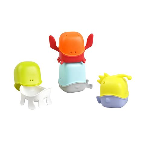 bathroom toys amazon com boon creatures interchangeable bath toy cup