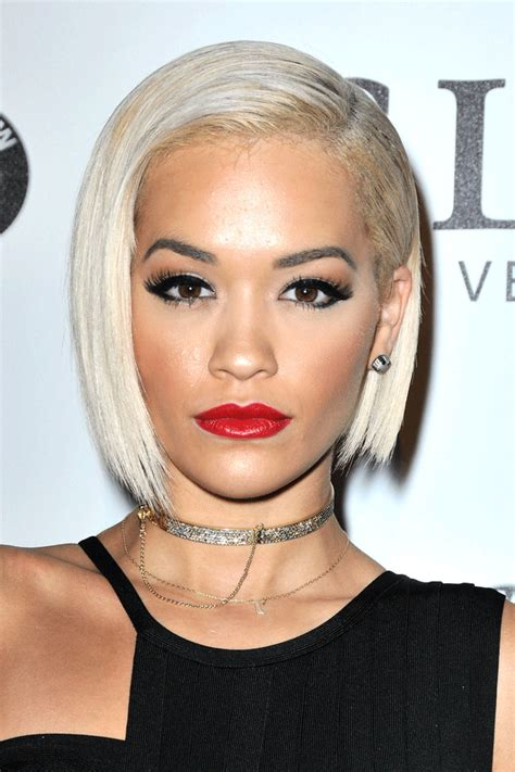 sharp hair ut for long hair rita ora short bob hairstyle hairstyles by unixcode