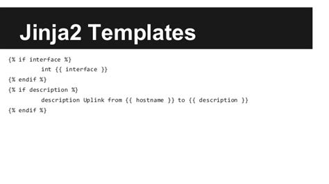 jinja2 templates python for the network