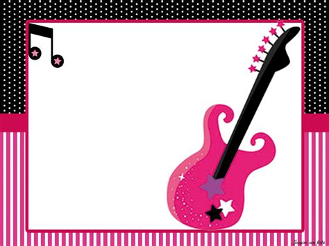 free printable rockstar birthday invitations rock star in pink free printable kit oh my quinceaneras