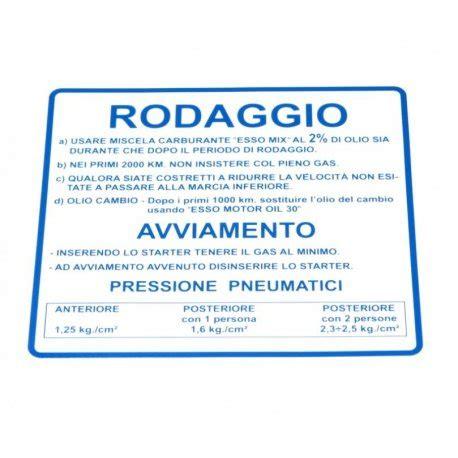 Aufkleber Vespa Et3 by Aufkleber Rodaggio Quot Blau Vespa 50 90 125 Primavera Et3