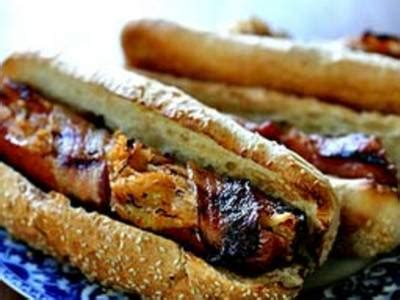 bacon wrapped dogs grill grilled bacon wrapped stuffed dogs better recipes