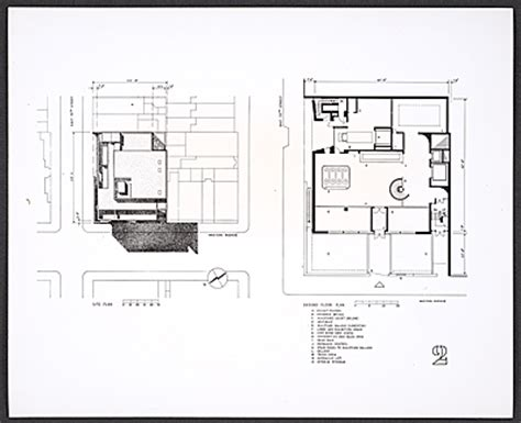 Whitney Museum Floor Plan | photograph of plans for the ground floor of the whitney