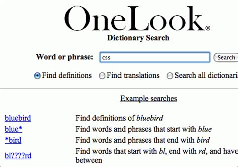 One Look Dictionary Lookup 50 Free Resources That Will Improve Your Writing Skills Smashing Magazine