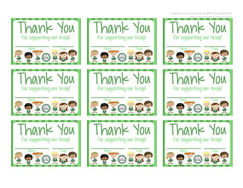 Printable Thank You Cards Girl Scout Cookies | my fashionable designs girl scouts free printable thank
