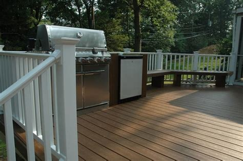 custom trex deck  bench long islandny deck