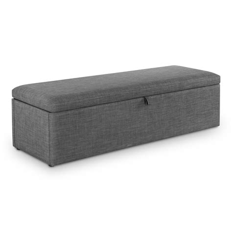 grey ottoman storage box ottoman sorrento grey blanket box sor302 bedroom storage