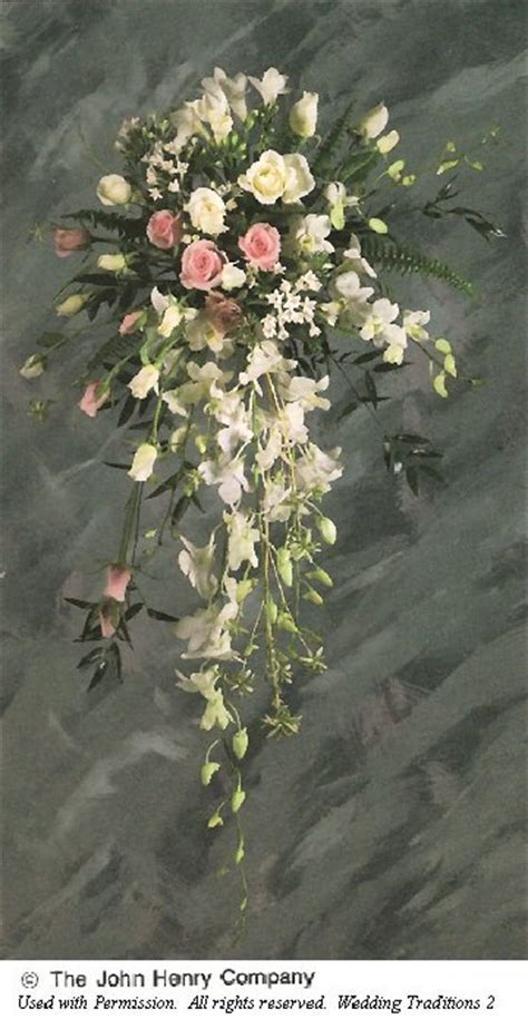 Rose and Orchid Cascading Bouquet   Wedding Bouquet Designs