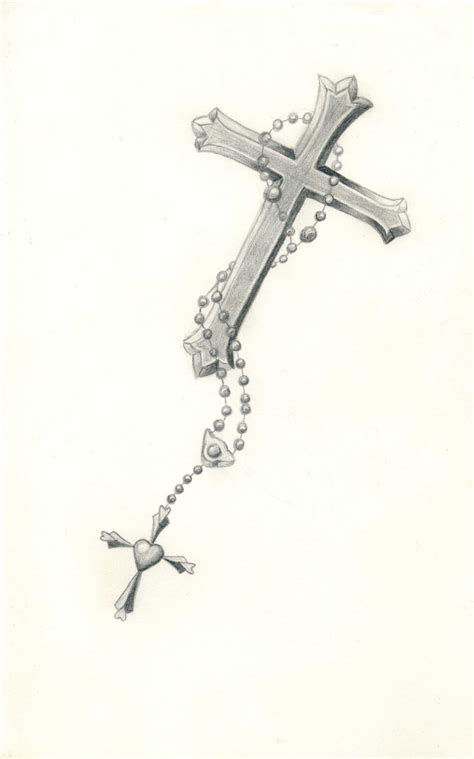 carla godman tattoo design rosary beads with cross
