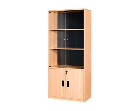 file cabinet non lockable glass door with 3 compartments