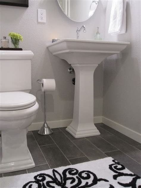 grey bathroom floor white bath dark floor